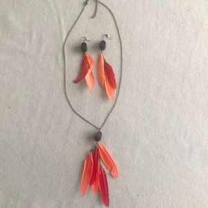 Jewelry - Red feather